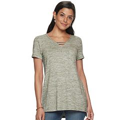 Petite's SONOMA Goods for Life™ Strappy Neck Tunic Tee