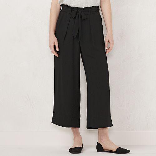 Women's LC Lauren Conrad Wide-Leg Cropped Pants