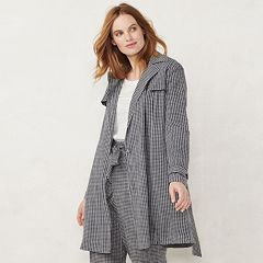 Women's LC Lauren Conrad Cropped Trench Jacket