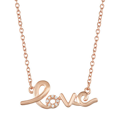 """Sterling Silver """"Love"""" Necklace"""