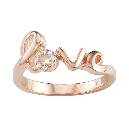 "Sterling Silver ""Love"" Ring"
