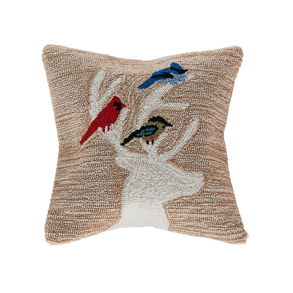 Liora Manne Frontporch Deer & Friends Indoor Outdoor Throw Pillow