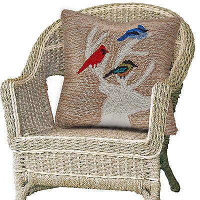 Liora Manne Frontporch Deer & Friends Indoor Outdoor Throw Pillow