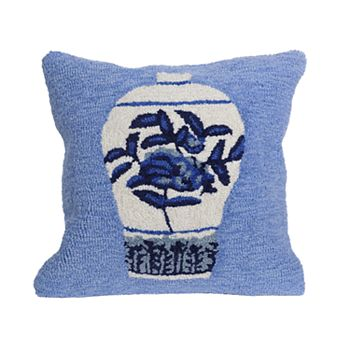 Liora Manne Frontporch Ginger Jars Indoor Outdoor Throw Pillow