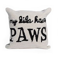 Liora Manne Frontporch My Kids Have Paws Indoor Outdoor Throw Pillow