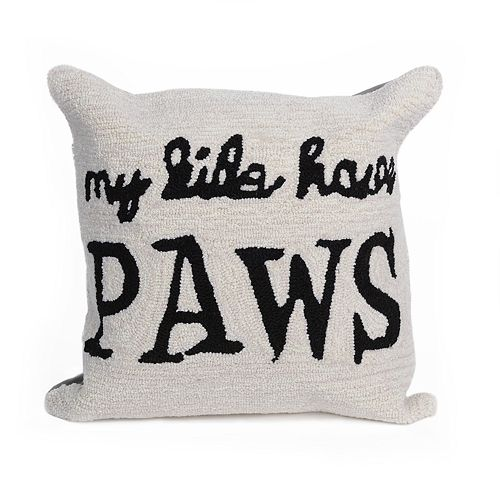 Liora Manne Frontporch My Kids Have Paws Indoor Outdoor Throw Pillow