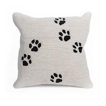 Liora Manne Frontporch Paw Prints Indoor Outdoor Throw Pillow