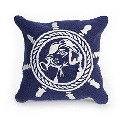 Liora Manne Frontporch Seadog Indoor Outdoor Throw Pillow