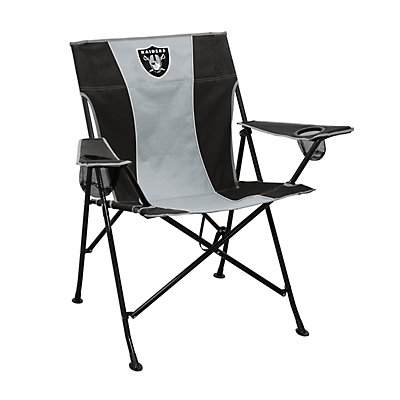 Logo Brands Oakland Raiders Game Time Portable Folding Chair