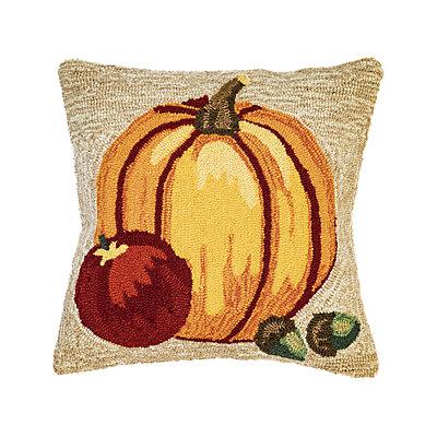 Liora Manne Frontporch Harvest Pumpkin Indoor Outdoor Throw Pillow