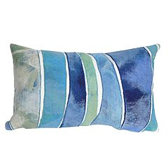 Liora Manne Visions III Waves Indoor Outdoor Throw Pillow