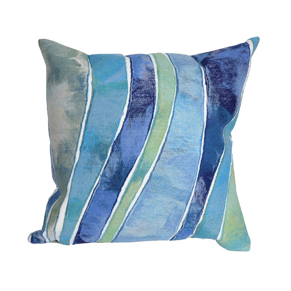 Liora Manne Visions III Waves Indoor Outdoor Throw Pillow
