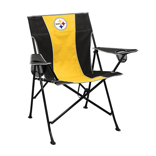 Logo Brands Pittsburgh Steelers Game Time Portable Folding Chair
