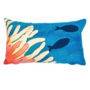 Liora Manne Visions III Reef & Fish Indoor Outdoor Throw Pillow