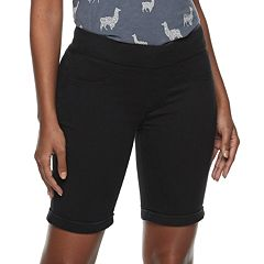 Women's SONOMA Goods for Life™ Pull-On Midrise Bermuda Jeans Shorts