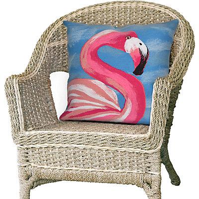 Liora Manne Visions III Flamingo Indoor Outdoor Throw Pillow