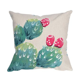 Liora Manne Visions III Cactus Pear Indoor Outdoor Throw Pillow