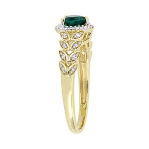 Stella Grace 10K Gold Heart Gemstone & Diamond Accent Ring