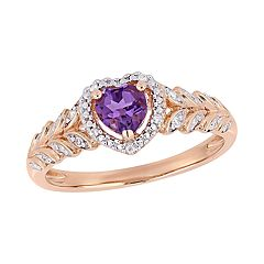 Stella Grace 10K Gold Gemstone & Diamond Accent Heart Ring