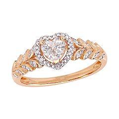 Stella Grace 10K Gold Gemstone & Diamond Accent Heart Ring
