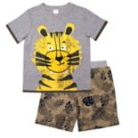 Toddler Boy Little Rebels Tiger Tee & Printed Shorts Set