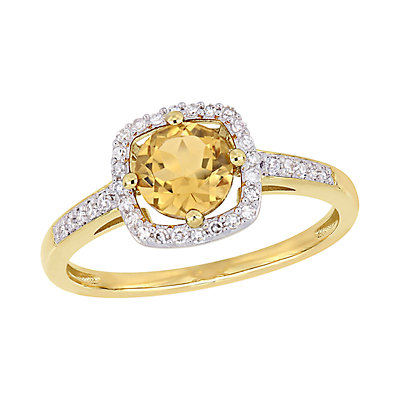 Stella Grace 10K Gold Gemstone & Diamond Accent Ring
