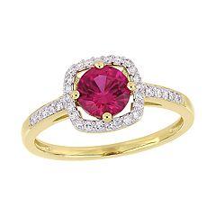 Stella Grace 10K Gold Gemstone & Diamond Accent Ring