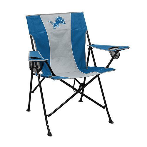 Incredible Logo Brands Detroit Lions Game Time Portable Folding Chair Machost Co Dining Chair Design Ideas Machostcouk