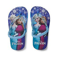 Disney's Frozen Anna & Elsa Toddler Girl Flip Flops