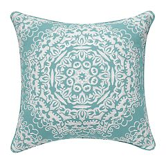 Tan Geo Medallion Pillow
