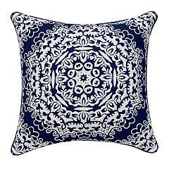 Tan Geo Medallion Pillow