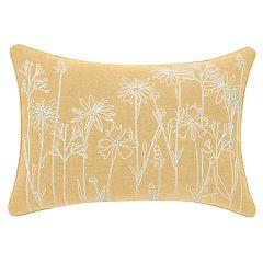 Yellow Floral Oblong PIllow