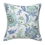 Floral Trellis Embroidered Pillow