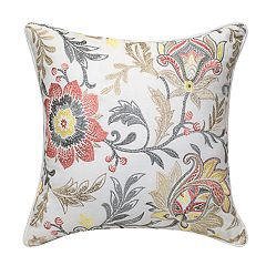 Pink and Yellow Trellis Embroidered Pillow