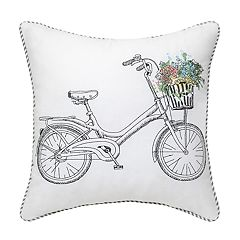 Blooming Bike Pillow with Stripe Back