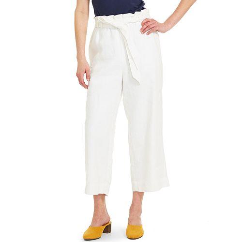 big sale new arrival choose genuine Women's IZOD Paperbag-Waist Linen Blend Crop Pants