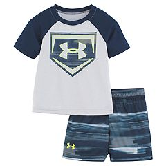 75f507a84317a Baby Boy Under Armour Latitude Baseball Raglan Graphic Tee & Abstract  Shorts Set