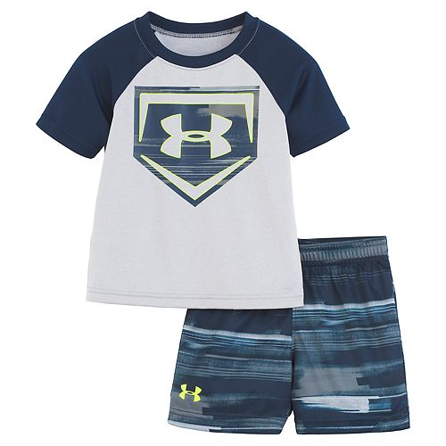 47c9a727 Baby Boy Under Armour Latitude Baseball Raglan Graphic Tee & Abstract  Shorts Set