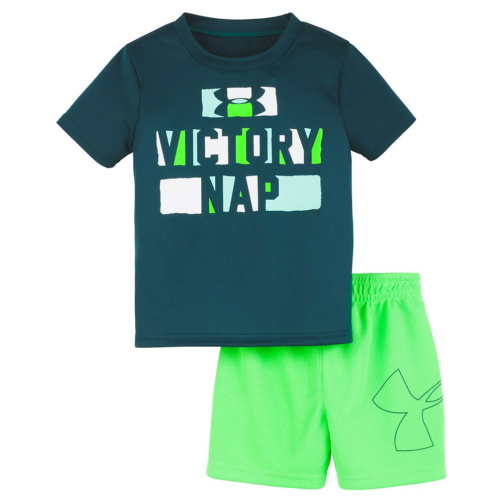 """Baby Boy Under Armour """"Victory Nap"""" Graphic Tee & Shorts Set"""