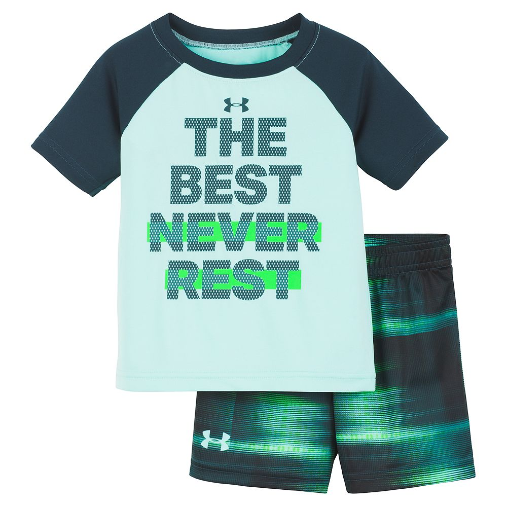 """Baby Boy Under Armour """"The Best Never Rest"""" Graphic Tee & Shorts Set"""