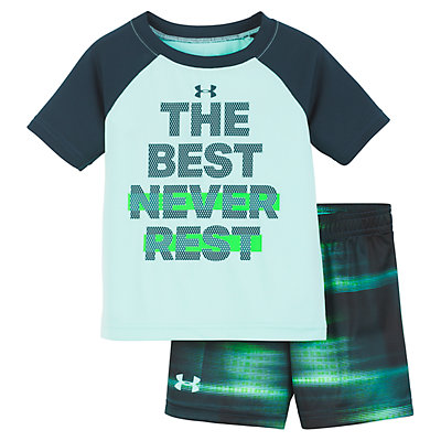 "Baby Boy Under Armour ""The Best Never Rest"" Graphic Tee & Shorts Set"