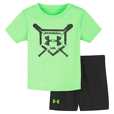 Baby Boy Under Armour Baseball Squad Graphic Tee & Shorts Set