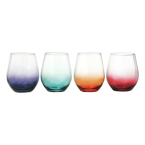 Food Network™ 4-pc. Ombre Acrylic Stemless Wine Glass Set