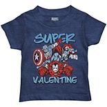 "Toddler Boy Marvel Avengers ""Super Valentine"" Graphic Tee"