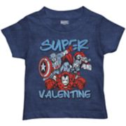 "Toddler Boy Marvel Avengers ""Super Valentine"" Graphic Tee"