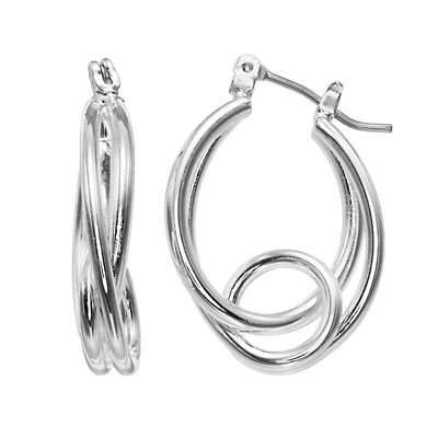 Napier Oval Loop Hoop Earrings