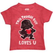 "Toddler Boy Star Wars Darth Vader ""This Tough Guy Loves U"" Graphic Tee"