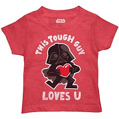 Toddler Boy Star Wars Darth Vader 'This Tough Guy Loves U' Graphic Tee