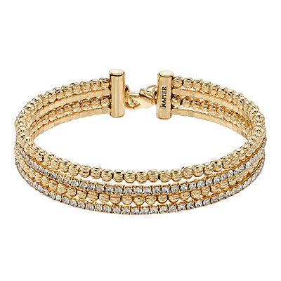 Napier Beaded Multi Row Bracelet