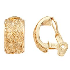 Napier Woven Rope Clip-On Earrings